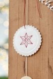 button -red star-