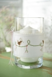 decoration band -birds with baby's breath-
