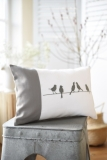 cushion cover -birds or rabbits-