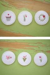 Stickpaket -kleine Stickbutton mit Sommermotiven-