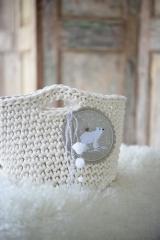 Stickbutton -Eisbär- (ohne Pompons)