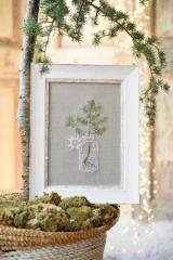 Stickdatei - Vase mit Tannenzweig-