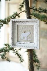 Stickdatei -Eisbär mit Vogel-