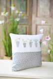 cushion cover -flower pot-