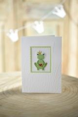 Passepartoutkarte -Frosch mit Herz-
