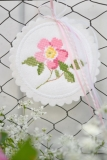 Stickdatei -Button-Rose-
