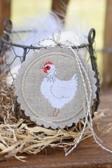 Stickbutton -ungebleicht- (weißes Huhn)