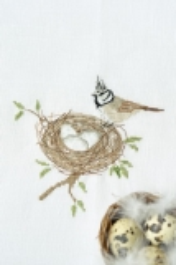 Stickdatei -Vogel mit Nest-