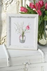 Stickdatei -Vase mit Tulpe-