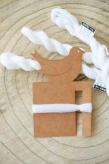 Troddelmaker mit Wollgarn -weiß-