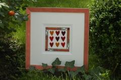 P250 hearts with orange felts