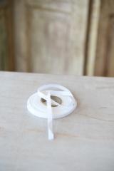 Leinenband, reinweiß, Breite: 0,8 cm