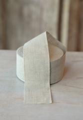 Leinenband, ungebleicht, 5 cm breit