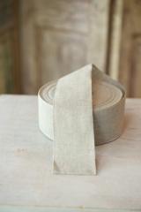 Leinenband, ungebleicht, 6 cm breit