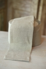 Leinenband, ungebleicht, 10 cm breit
