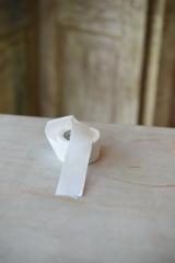 Leinenband, reinweiß, Breite: 3 cm