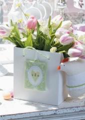 Holzbox -Tulpen-