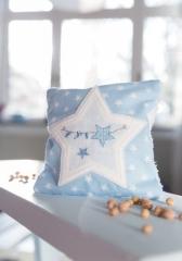 Kirschkernkissen, blau mit Stern