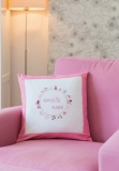 Kissen, Geburtsbild, rosa