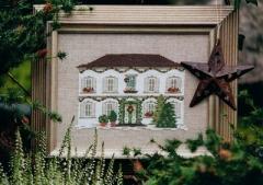 Stickpackung -Weihnachtshaus-