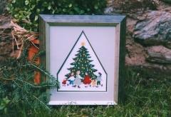 Stickpackung -Tanz um den Tannenbaum-