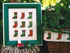 Stickpackung Weihnachtsstiefel