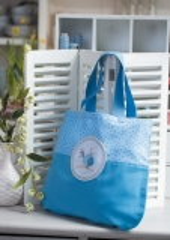 Stoff-Tasche Zaunkönig -Blau-