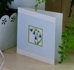 Passep.-Karte mit blauem Karo aus B/112 Blütentanz