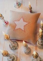 Kissen -Weißer Stern-