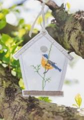 Vogelhausanhänger, weiß