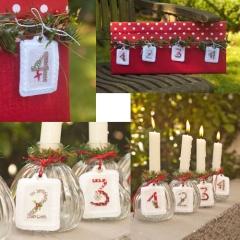 Stickpaket -Adventszahlen 1-2-3-4 (weiß)-
